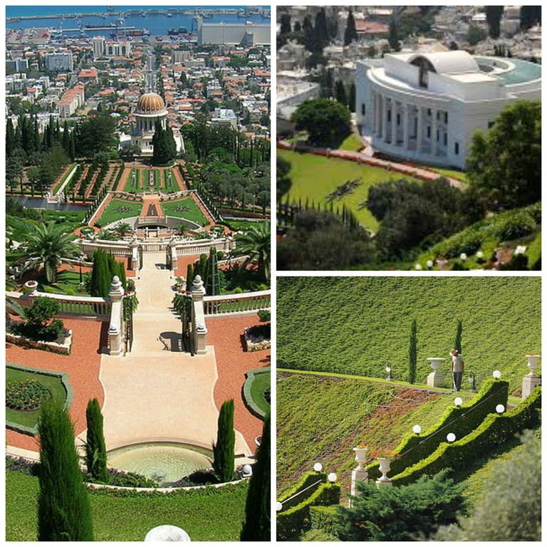 Baha'i gardens in Haifa © Guillaume Paumier|WikiCommons © EdoM |WikiCommons