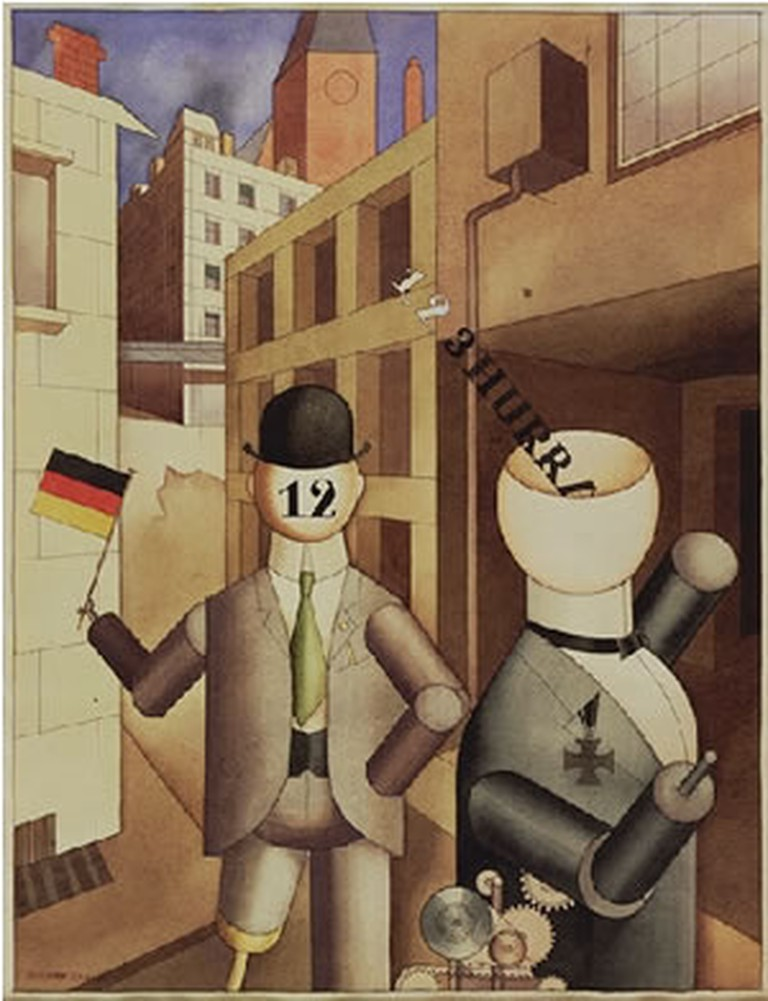 Republic Automatons by George Grosz in 1920 © Petropoxy/WikiCommons