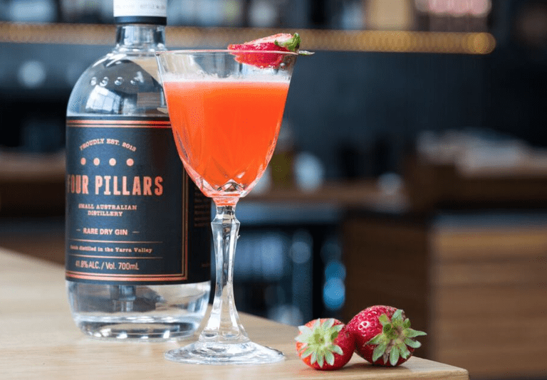 Mrs Fitzgerald using Melbourne's most iconic gin from Four Pillars Distillery. © Four Pillars.