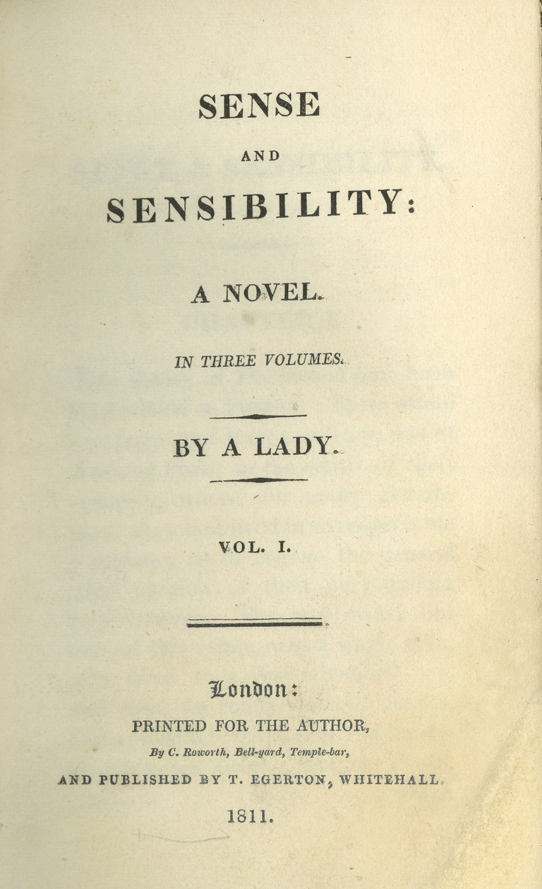 Sense and Sensibility © Indiana University/[Public domain] via wikicommons
