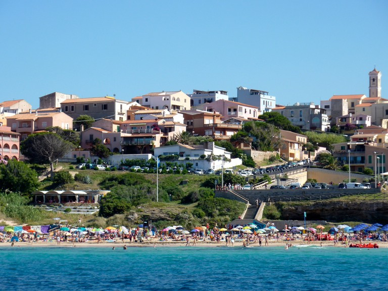 Santa Teresa di Gallura town from the sea