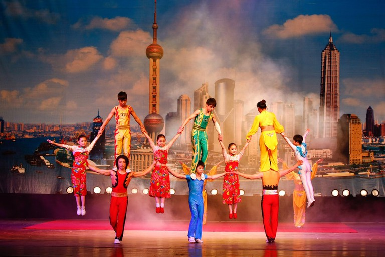 World famous Shanghai acrobats perform