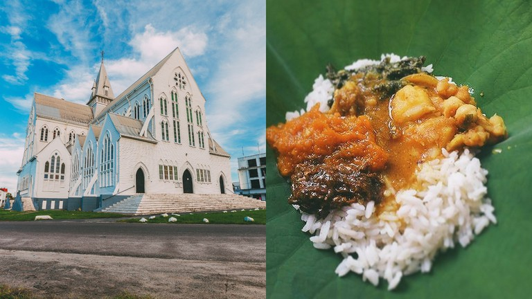 St. George's Cathedral (Image courtesy of Michael Lam) | Seven Curry (East Indian dish) © Ms. Vitri Photos