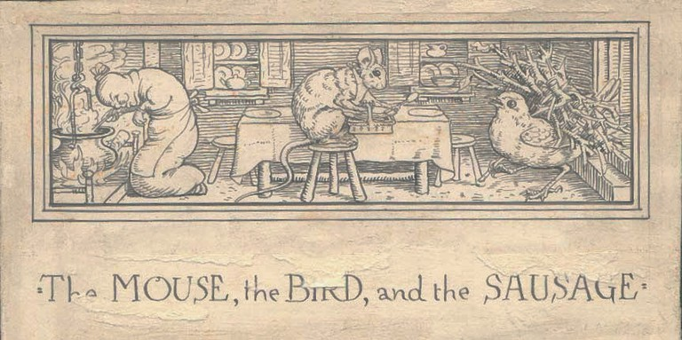 The Mouse, the Bird, and the Sausage | © Walter Crane/WikiCommons