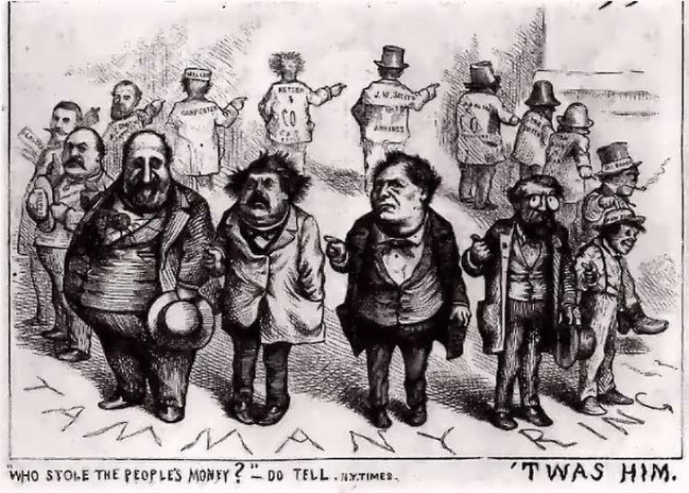 Thomas Nast, Boss Tweed and the Tammany Ring, 1870s