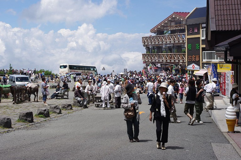 Fifth Station on the road to the top of Mount Fuji, Kawaguchiko side   © Jakub Hałun/WikiCommons