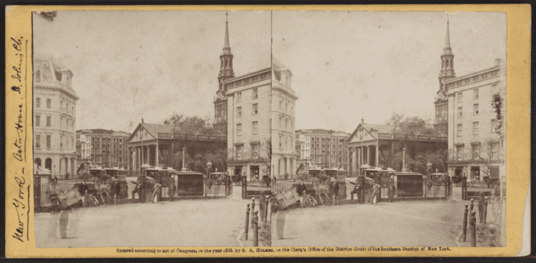 Astor House, New York, from Robert N. Dennis collection of stereoscopic views 3 | © WikiCommons