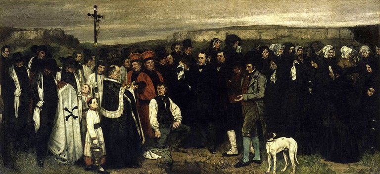 """A Burial at Ornans"" by Gustave Courbet 