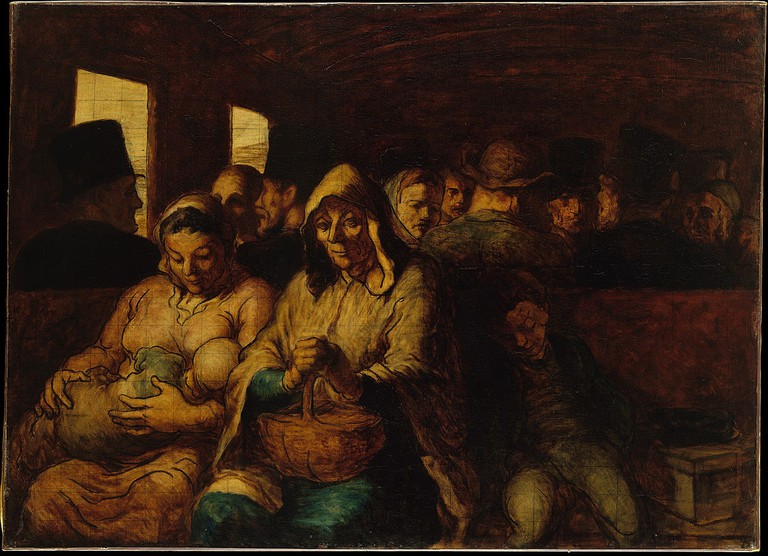 """The Third Class Carriage"" by Honoré Daumier 