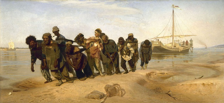 """Barge Haulers on the Volga"" by Ilya Repin 