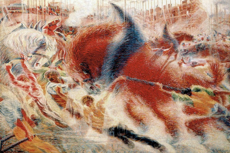 """The City Rises"" by Umberto Boccioni 