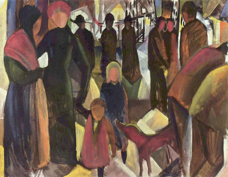 August Macke, Farewell, 1914 | © The Yorck Project/WikiCommons