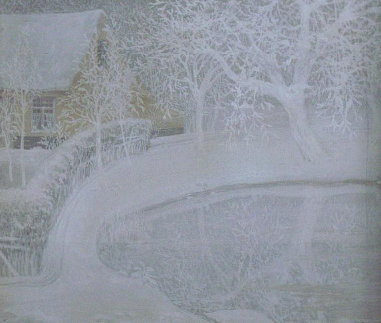Jardin sous la neige (Garden in the snow)   © WikiCommons