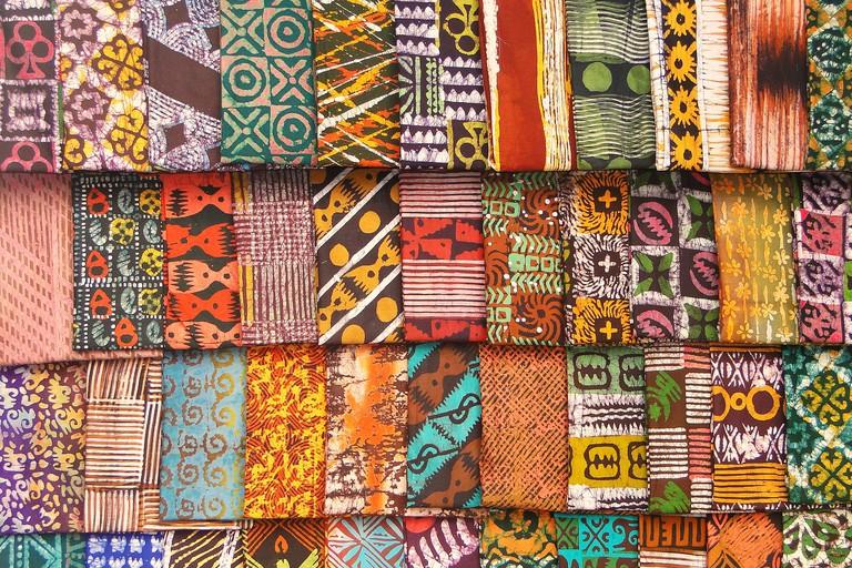 Kente (Batik) Cloth in Market| ©Adam Jones/Flickr