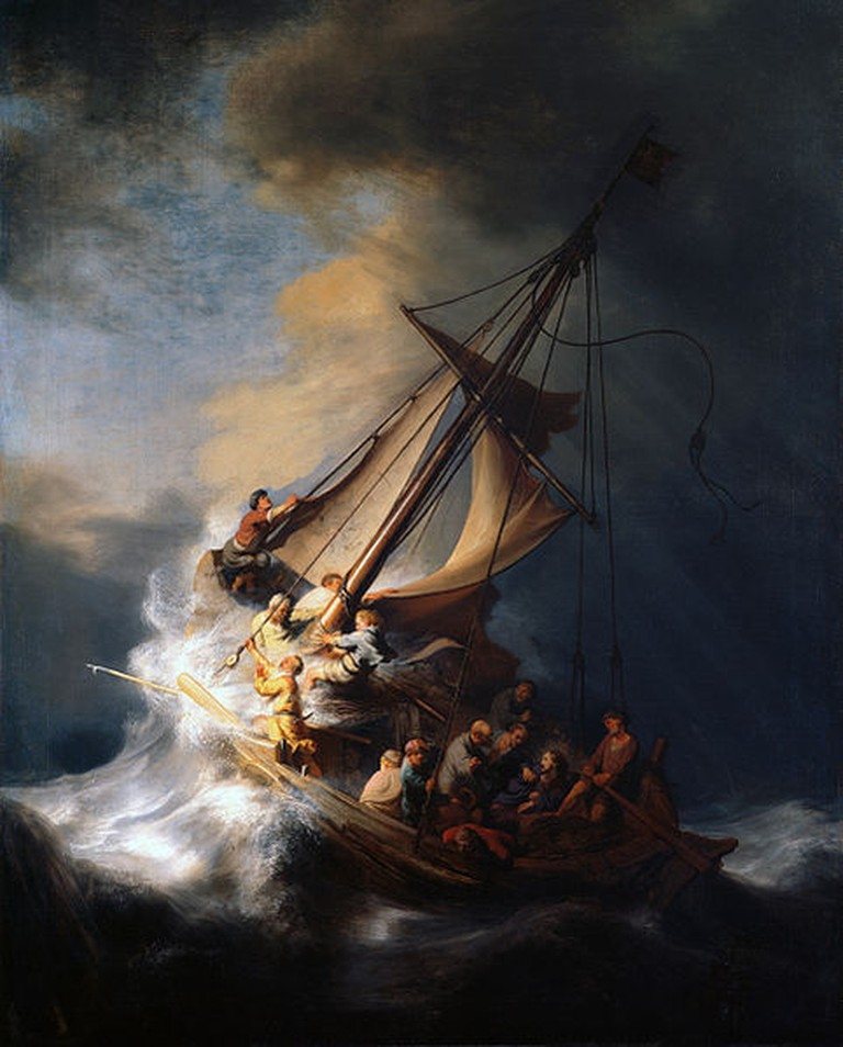 Rembrandt, The Storm on the Sea of Galilee, 1633 | (c) Aavindraa/WikiCommons