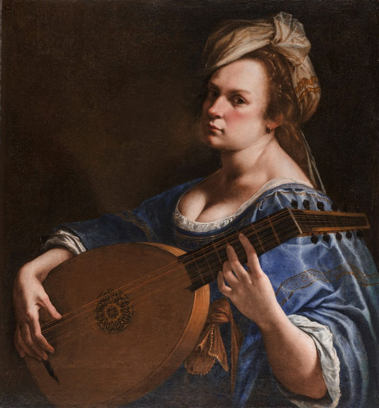 Artemisia Gentileschi, Self-Portrait as a Lute Player, c. 1615-18, Oil on canvas, Wadsworth Atheneum Museum of Art, Charles H. Schwartz Endowment Fund, 2014.4.1