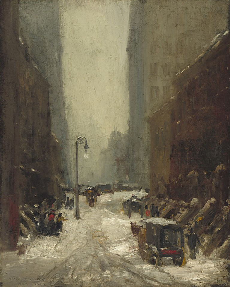 """Snow in New York"" by Robert Henri 