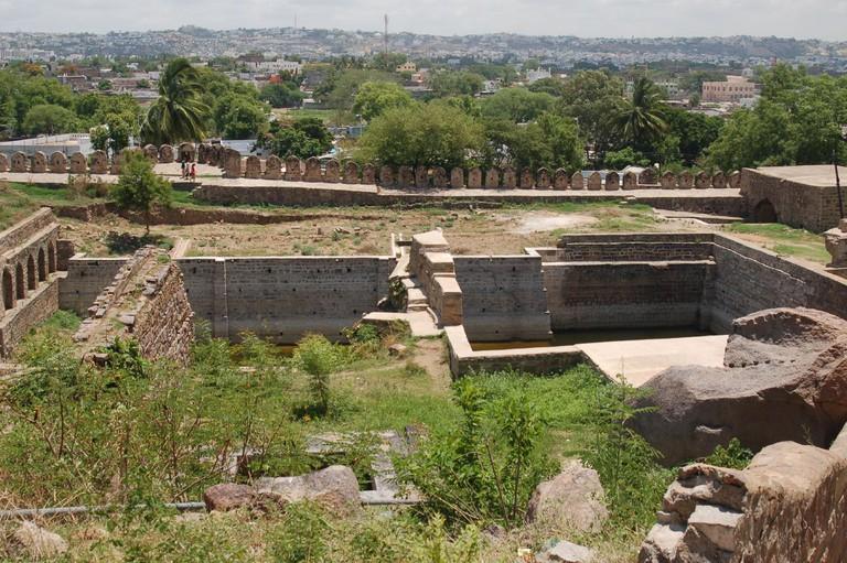 Water wells at Golconda