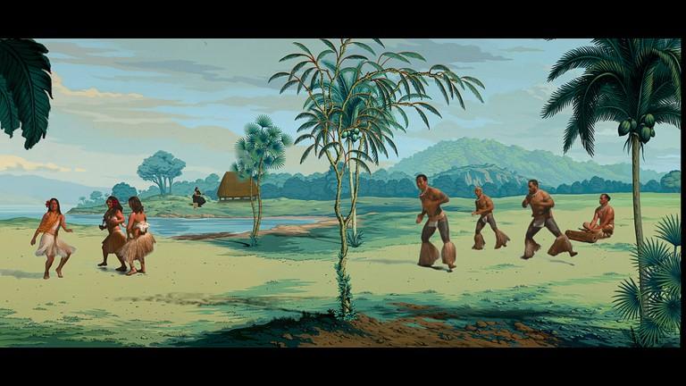 Lisa ReihanaMaori people born 1964In pursuit of Venus (still) 20152 channelcolour high definition video transferredto media player, stereo sound,15 min 58 sec, ed. 2/3National Gallery of Victoria, MelbournePurchased NGV Foundation, 2015 (2015.182)