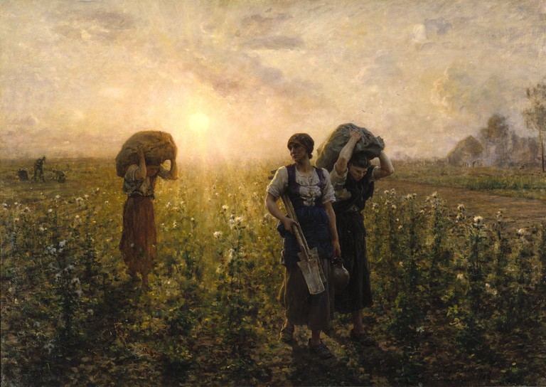 """The End of the Working Day"" by Jules Breton 