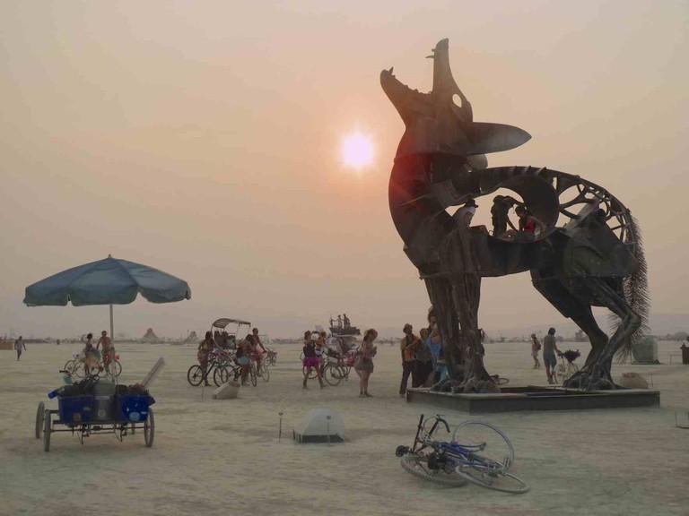 Burning Man Coyote | ©Jennifer Morrow/WikiCommons