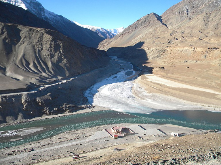 The confluence of the Indus and Zanskar