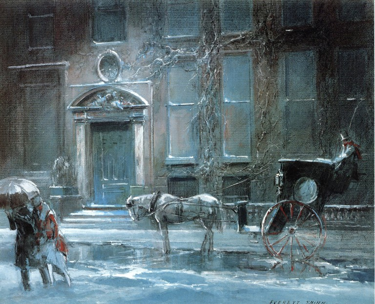 """The Canfield Gambling House"" by Everett Shinn 