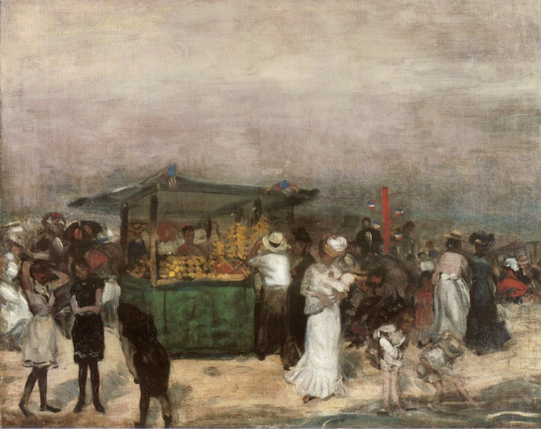 """Fruit Stand Coney Island"" by William James Glackens 