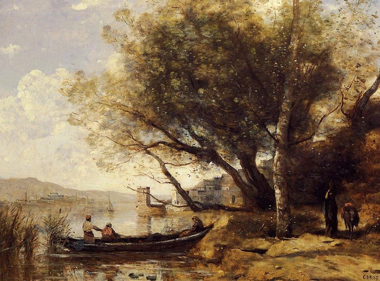 """Smyrne Bournabat"" by Jean-Baptiste-Camille Corot"