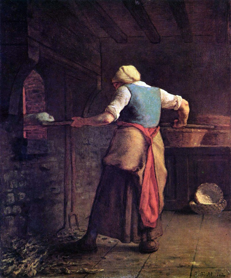 """Woman Baking Bread"" by Jean François Millet 