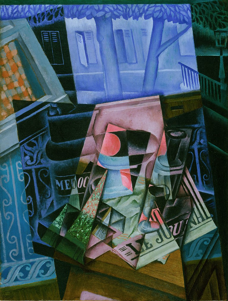 Juan Gris, Still Life before an Open Window, Place Ravignan | © Philadelphia Museum of Art/WikiCommons