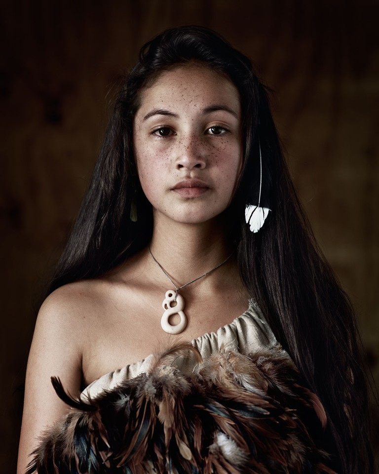 Maori,Rauwhiri Winitana Paki, Taupo Village, North Island, New Zealand, 2011 | © Jimmy Nelson