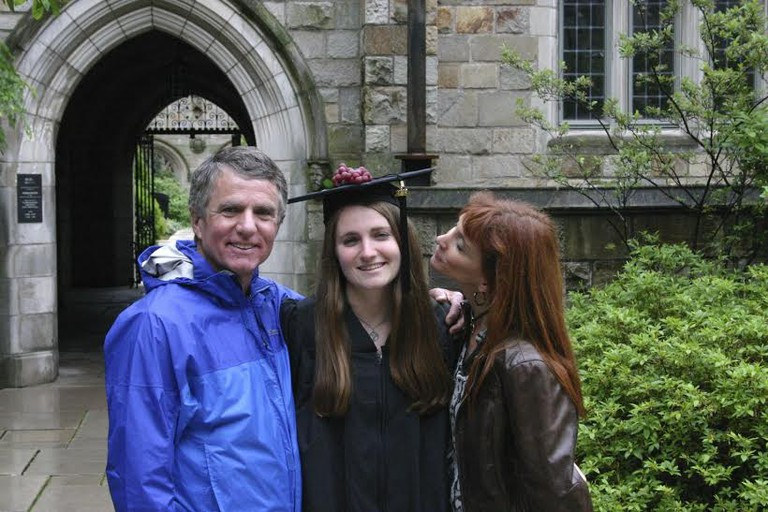 Marina with her parents, Kevin and Tracy Keegan