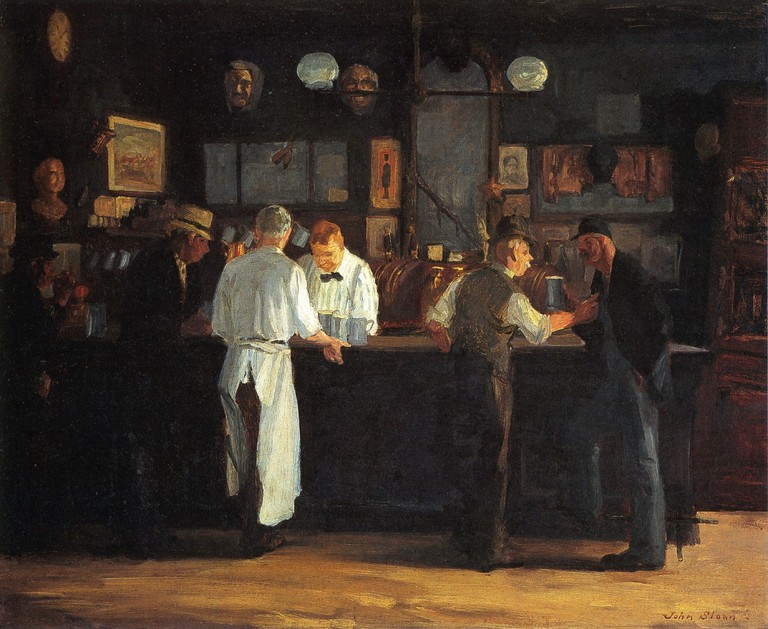 """McSorley's Bar"" by John French Sloan 