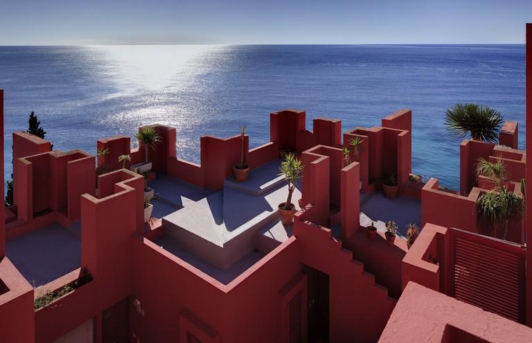 Rooftop view of La Muralla Roja | Courtesy of Ricardo Bofill