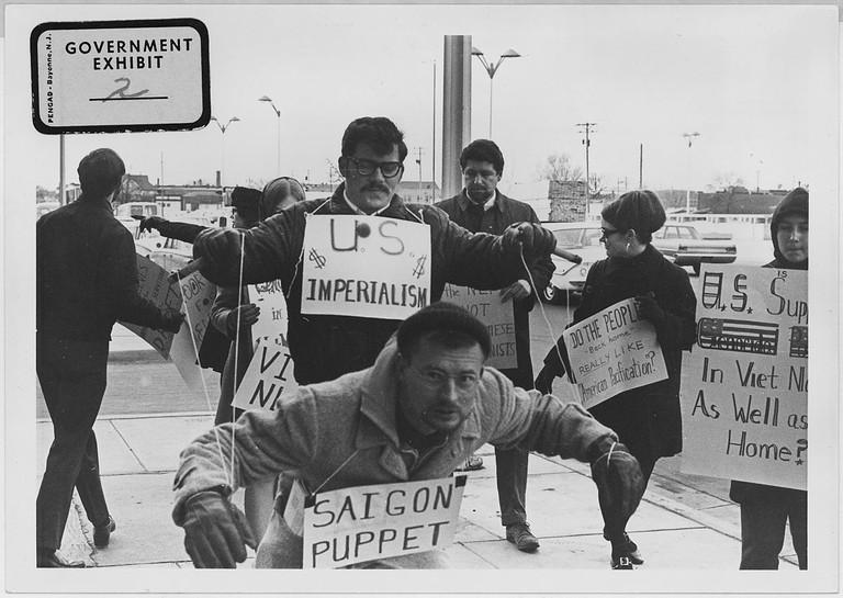 Vietnam War Protestors in Wichita, Kansas circa 1967