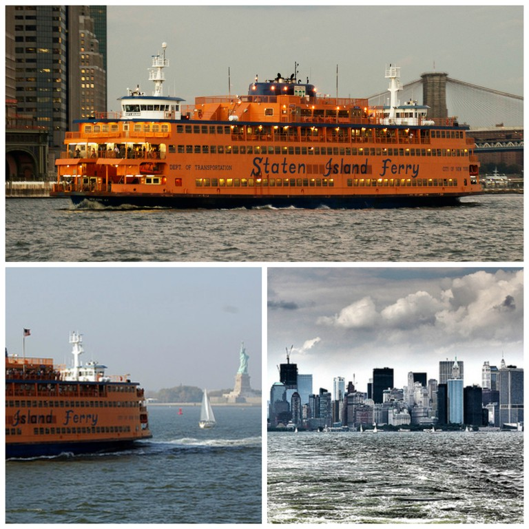 Staten Island Ferry | © Phil Dolby/Flickr, Staten Island Ferry and Statue of Liberty | © Henning Klokkeråsen/Flickr, NYC from Staten Island Ferry 2011 | © Mobilus In Mobili/Flickr