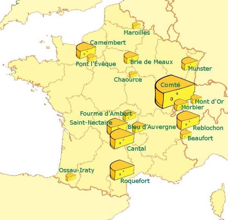 Principales AOC France –