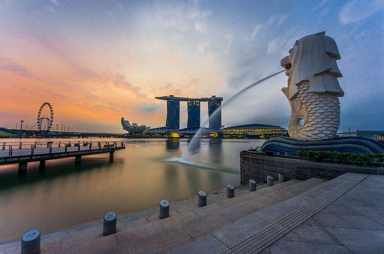 Merlion at Marina Bay © Fad3away/WikiCommons