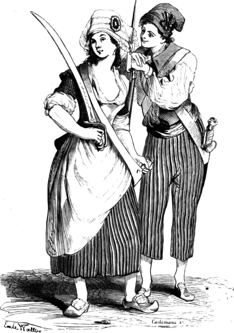 Filles Sans-Culottes © WikiCommons