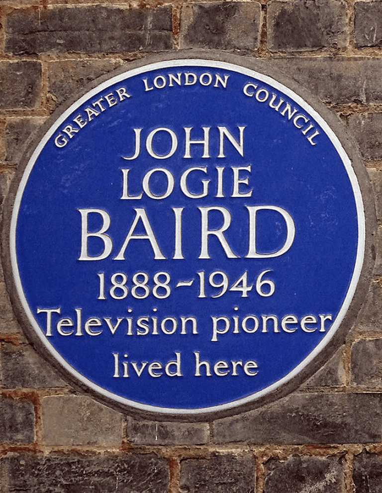 John Logie Baird, plaque in the UK. ©Spudgun67 on Flickr
