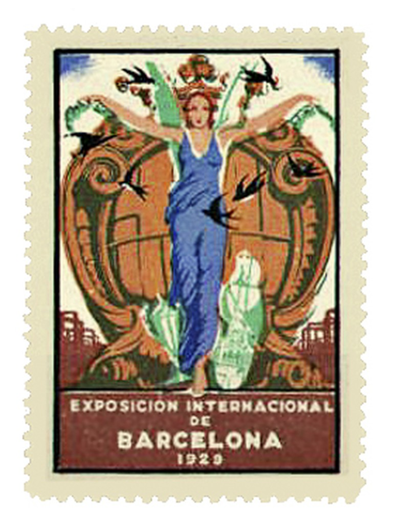 Stamp promoting the 1929 International Exposition
