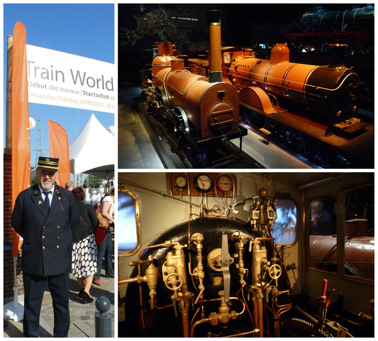 Train World: Old locomotives|© Smiley.toerist/Wiki Commons, Train World Opening|© Michel Wal/Wiki Commons, Old Belgian steam locomotive cabine|© Smiley.toerist/Wiki Commons