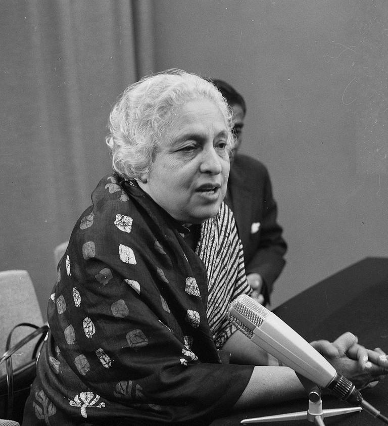 Vijaya Lakshmi Pandit |© Wikimedia Commons