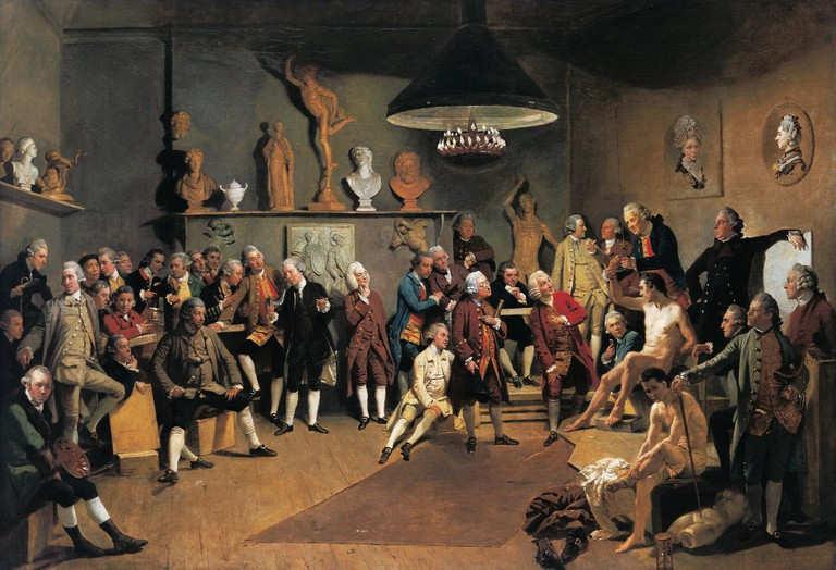 The Academicians of the Royal Academy, by Johann Zoffany, 1771-1772