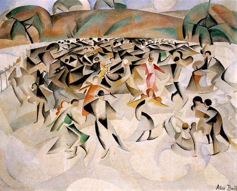 Alice Bailly, Skating in the Bois de Boulogne (1914)