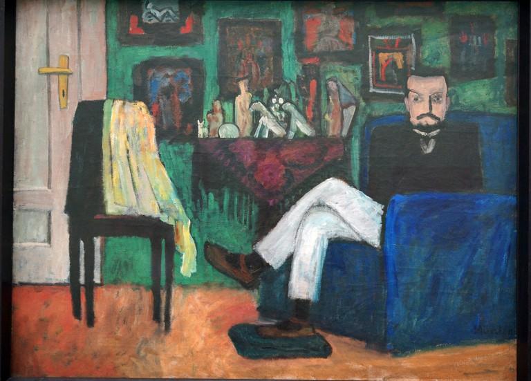 Gabriele Münter, Man in an Armchair (Paul Klee) (1913)