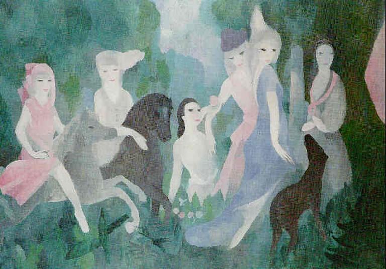 Marie Laurencin, La vie au château (1925)