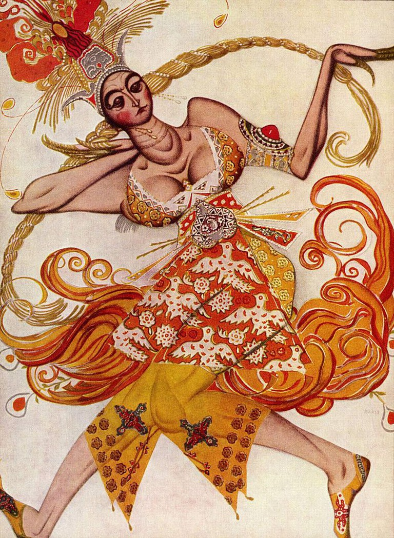 Costume for The Firebird | © Léon Bakst/WikiCommons
