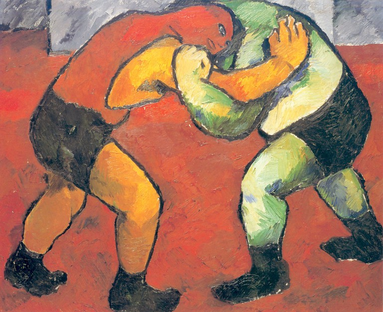 Natalia Goncharova, Fighters (1909)
